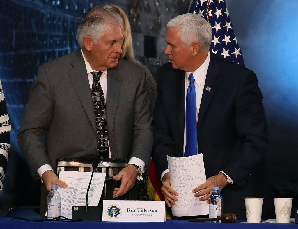 Despite crippling stalemate in DC, Tillerson and Pence push Trump's agenda overseas https://t.co/jzSq5QaYK7