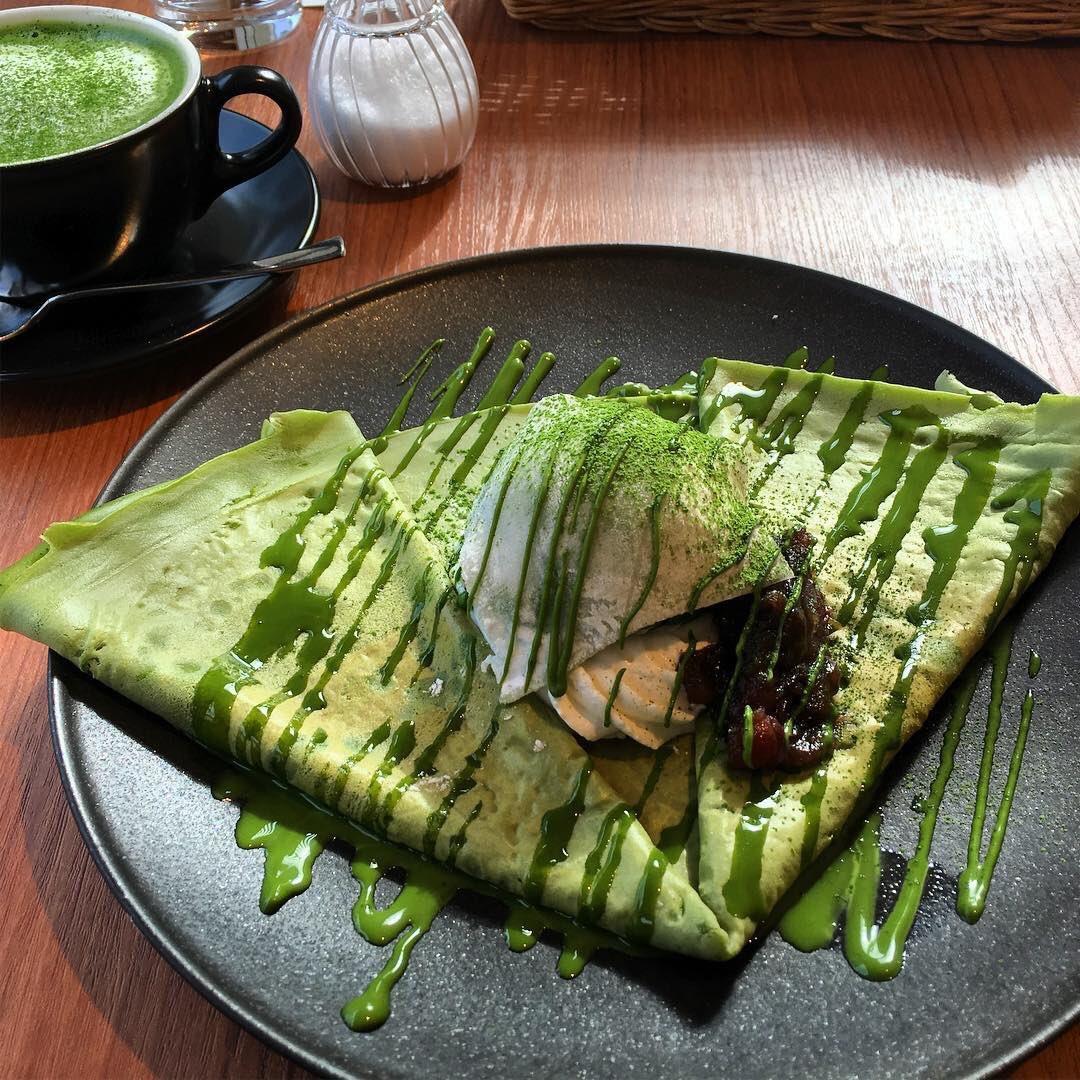 最高級抹茶を使用した抹茶クレープなど抹茶スイーツが食べられる京都府宇治市にある伍町カフェ✨