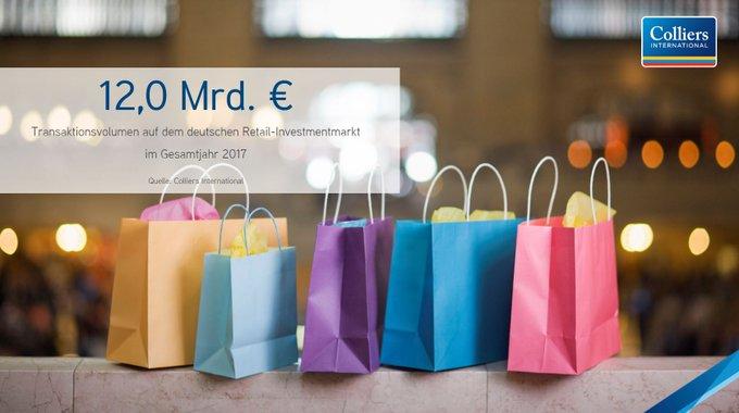 Mit einem Ergebnis von 12,0 Mrd. € schnitt der deutsche Investmentmarkt für Einzelhandelsimmobilien 2017 rund 29 % stärker ab als im Vorjahr. Vor allem kleinteilige Fachmarktportfolios beherrschten das Marktgeschehen. <br>Zum vollständigen Bericht:  t.co/kVqyXchbSY