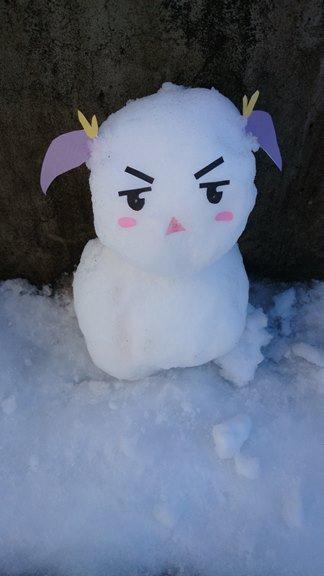 にゃんぱすー こちらは、ずいぶん前につくったれんちょん雪だるまなのん!
