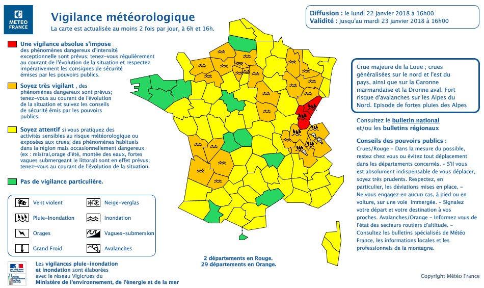 🔴🔴 Pluies-inondations : le Doubs en vigilance rouge, la Haute-Saône, la Meurthe-et-Moselle et la Meuse en orange Notre direct ➡ https://t.co/hkNDQrxptv
