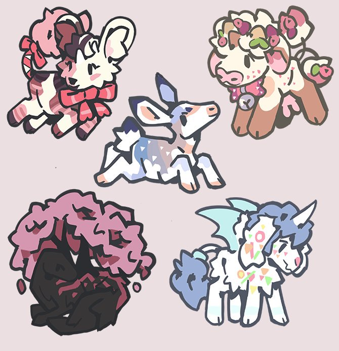 Chibis ! For toyfrnd and honeyful on DA and @galestormKitsun !