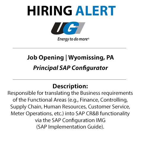 test Twitter Media - Are you a problem solver with experience in #SAP? UGI needs you! Join our team today as a Principal SAP Configurator: https://t.co/A6es2gHODR #EnergyJobs #ITJobs https://t.co/3OPut7Makh
