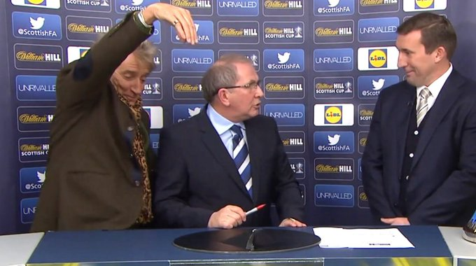 Happy birthday to Rod Stewart, the man who gave us the greatest moment in Scottish Cup draw history