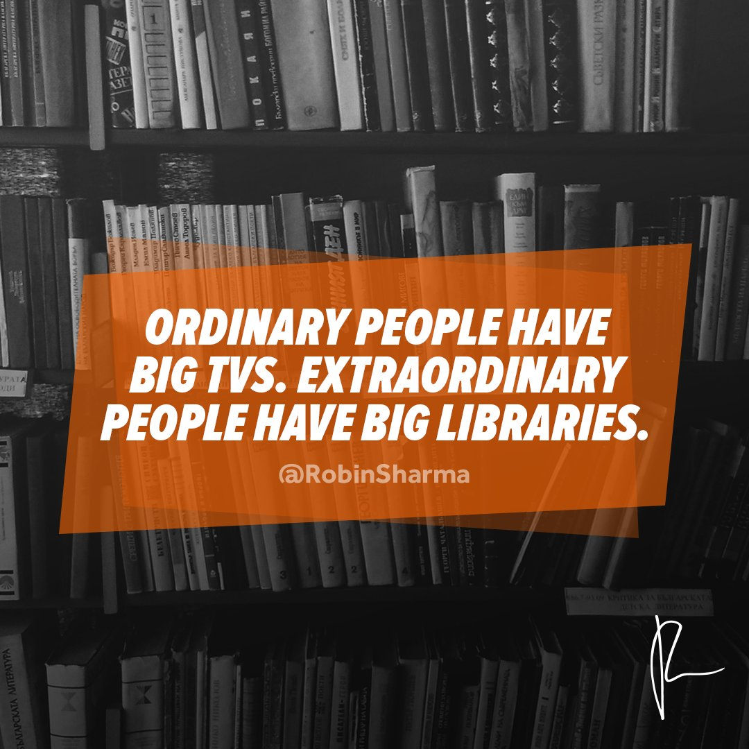 A large library will serve us more than a big tv. #DailyKickstart https://t.co/QDL4Sy5I26