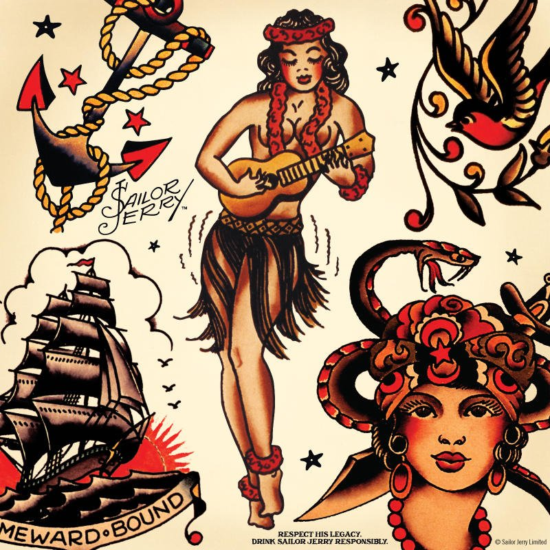 sailor jerry uk on twitter we really dig norman s iconic hulagirl