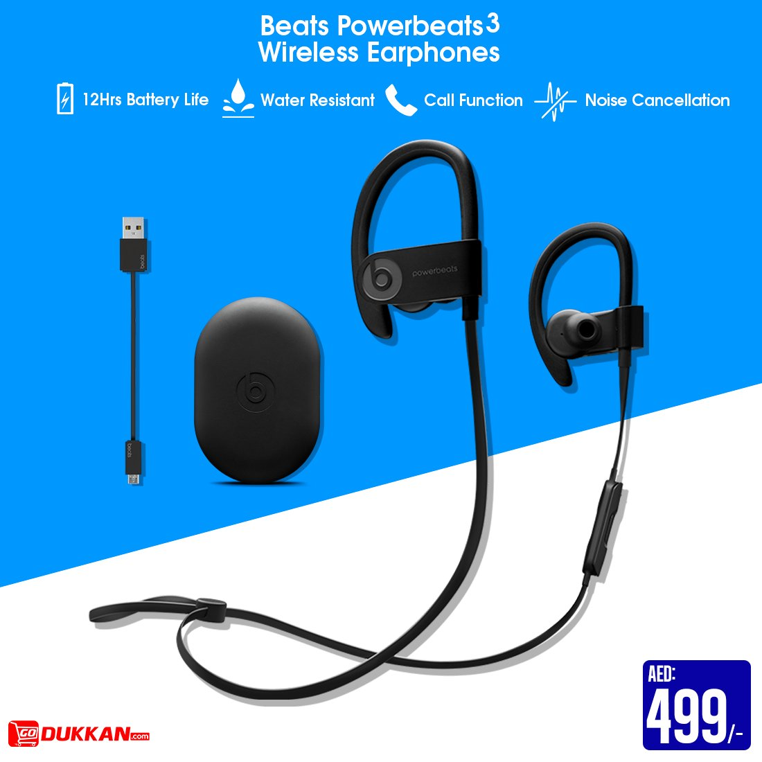 339b09fed0a ... Premium Quality | #Beats #Powerbeats3 Wireless Earphones @ AED:499/- |  12Hrs Battery #Life | Water Resistance | Call Function | Noise Cancellation  | For ...