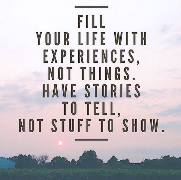"""Fill Your Life With Experiences Not Things Quote: Hike Nova Scotia On Twitter: """"#MondayMotivation: Fill Your"""