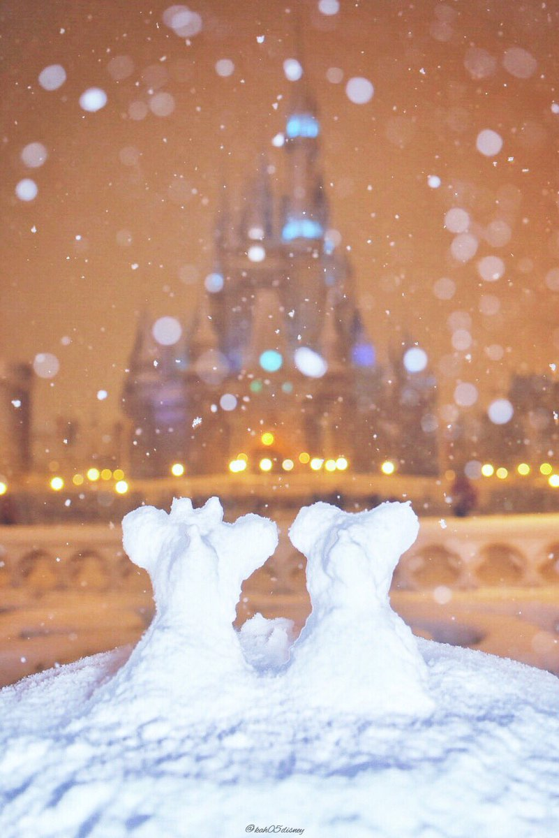"""ⓚⓐⓗⓞ on twitter: """"雪がつもった、今日の東京ディズニーリゾート"""