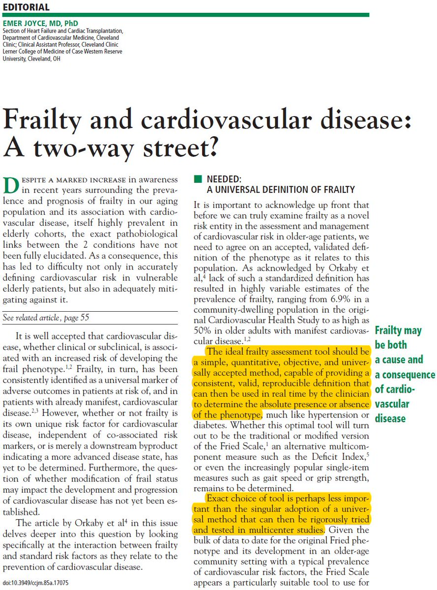... Definition That Can Then Be Used In Real Time.  Https://www.mdedge.com/ccjm/article/155196/geriatrics/frailty And Cardiovascular Disease Two Way Street  U2026 ...
