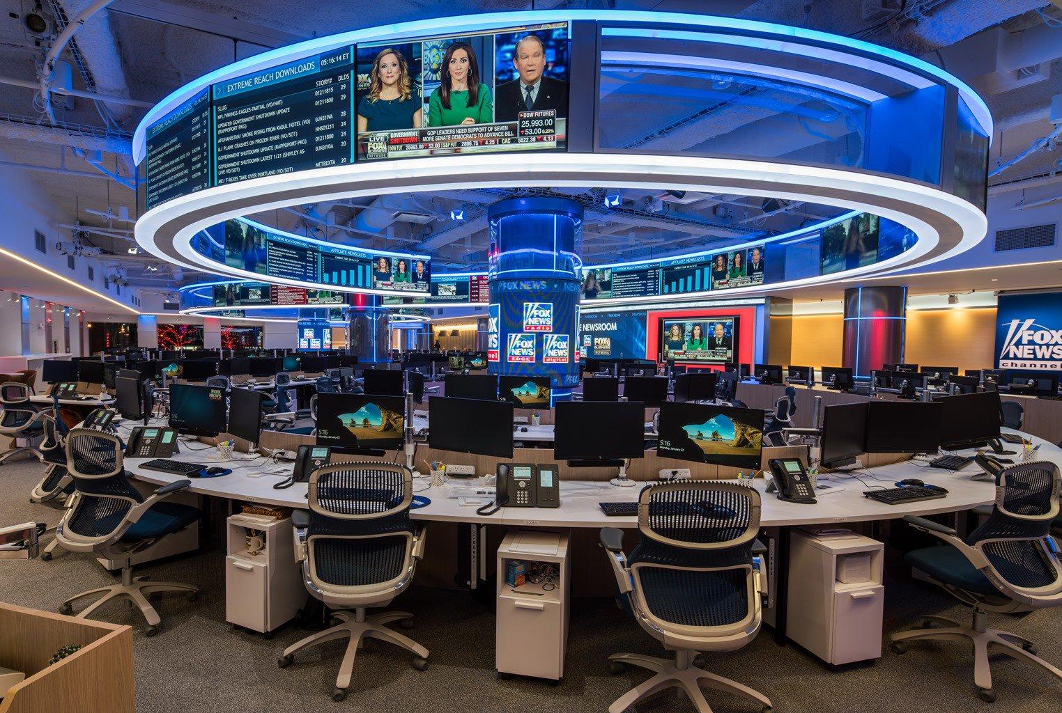 FOX NEWS CHANNEL Debuts new newsroom/Studio: The channel ...
