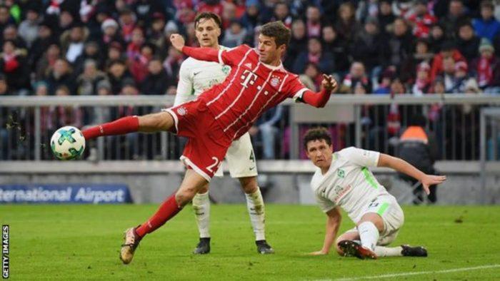 ICYMI: Muller scores 100 Bundesliga goal...