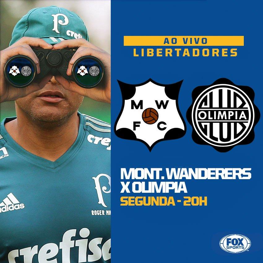 PALMEIRAS DE OLHO! 👀 Hoje, a partir de 20h, Montevideo Wanderers e Olimpia dão início à #LibertadoresFOXSports e podem figurar no grupo do Verdão! Você não perde nenhum detalhe desse jogo, aqui, no FOX Sports!