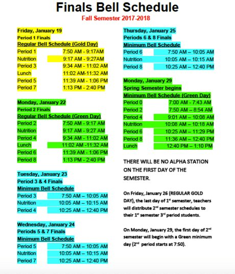 Poly High Life On Twitter Did You Know The Finals Week Schedule Is