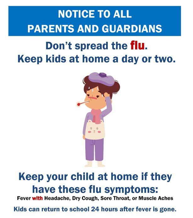 Image result for Don't send them to school if sick