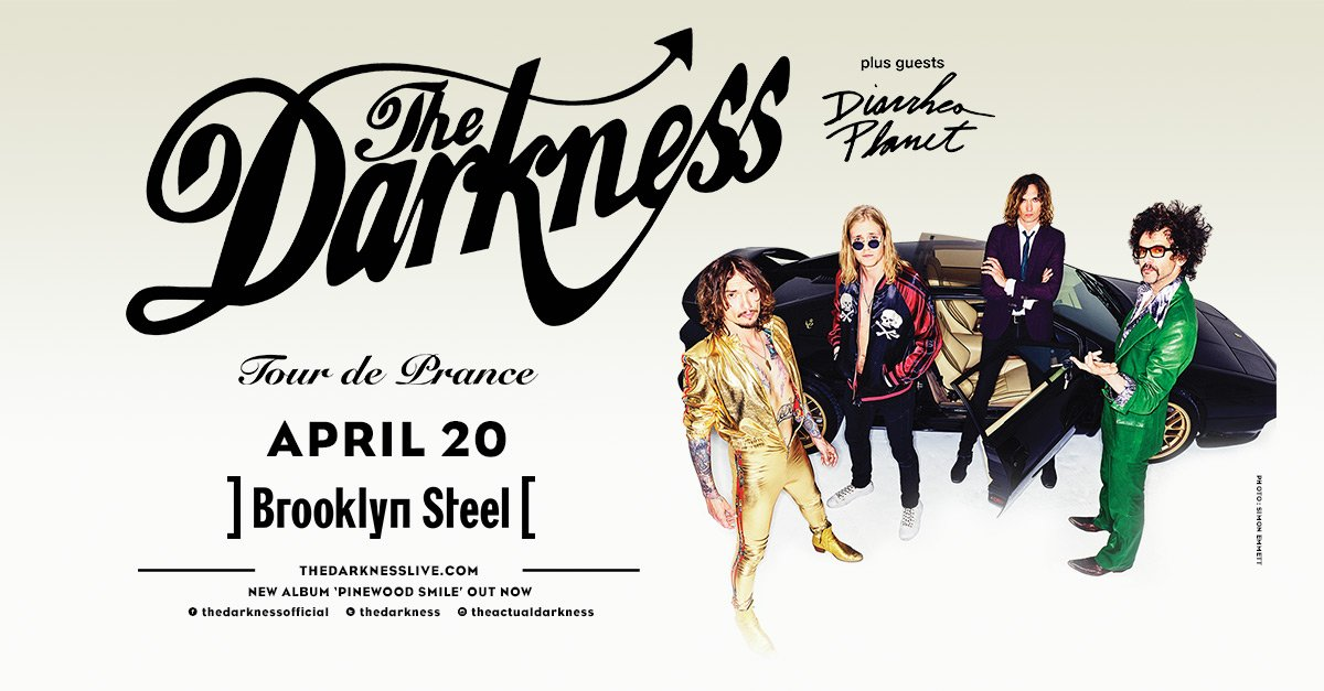 Stoked to announce that Nashville garage-punks @DiarrheaPlanet will be opening for @thedarkness on 4/20! Tickets yall >> tbp.im/2ASm1st