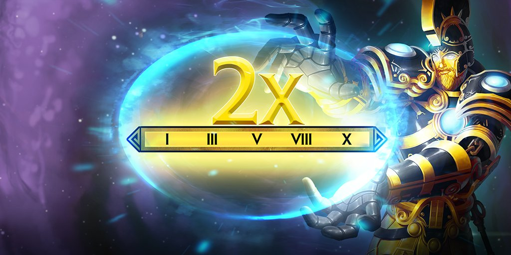 We're seeing double!   Earn 2x Favor, Worshippers, & XP this weekend!  https://www.smitegame.com/news/double-everything-weekend-january-26-28…