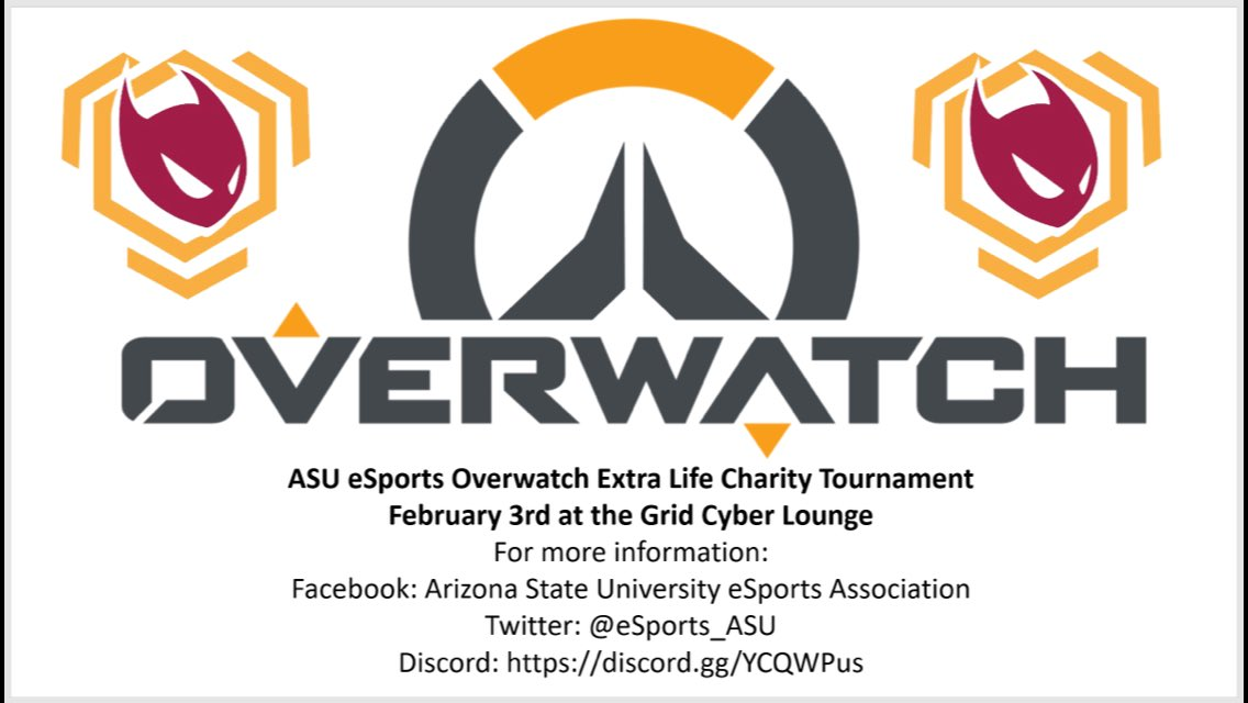 Asu Esports On Twitter Asu Esports Will Be Hosting An Overwatch