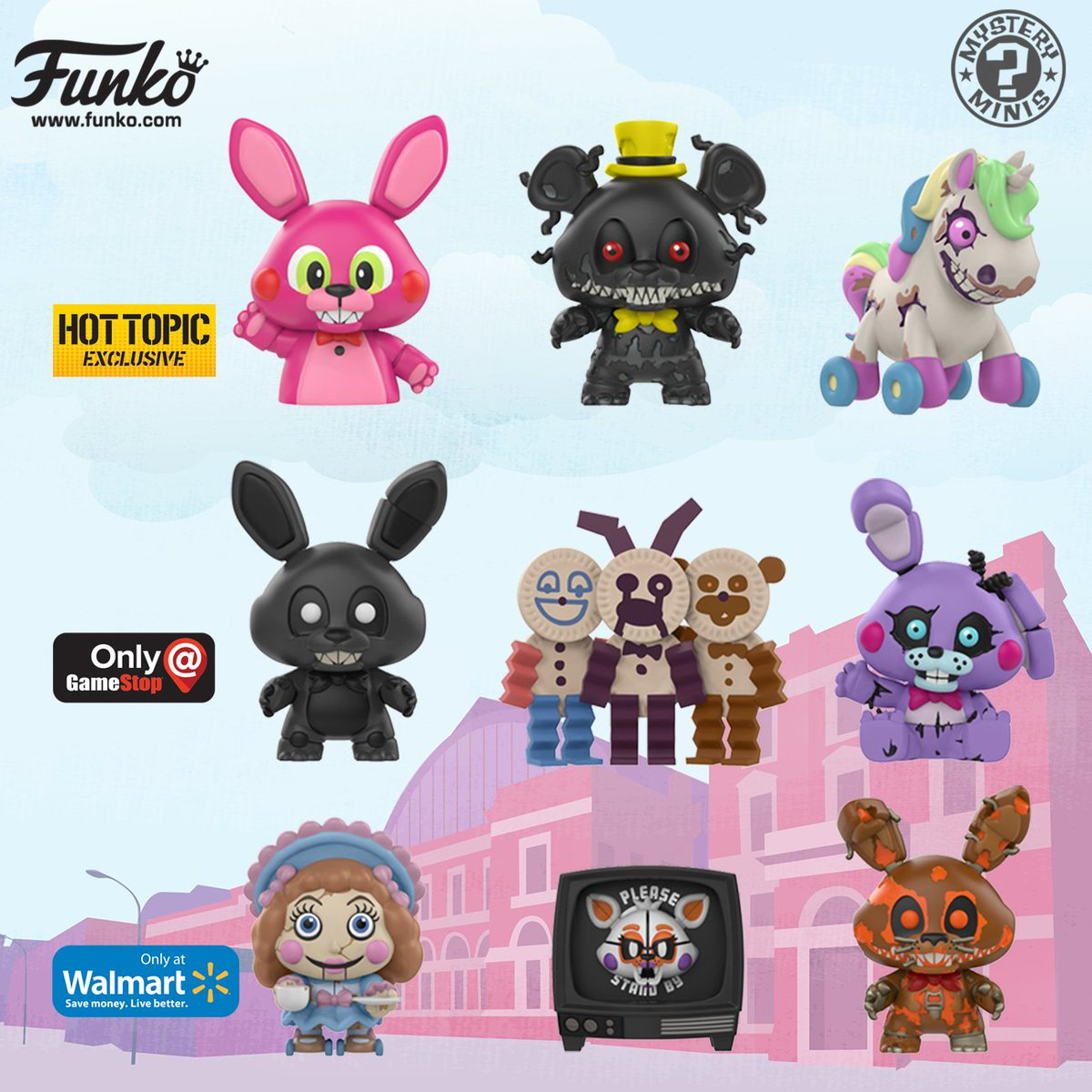 FNAF The Twisted Ones Mystery Minis Vinyl Figures Chica Five Nights at Freddy/'s