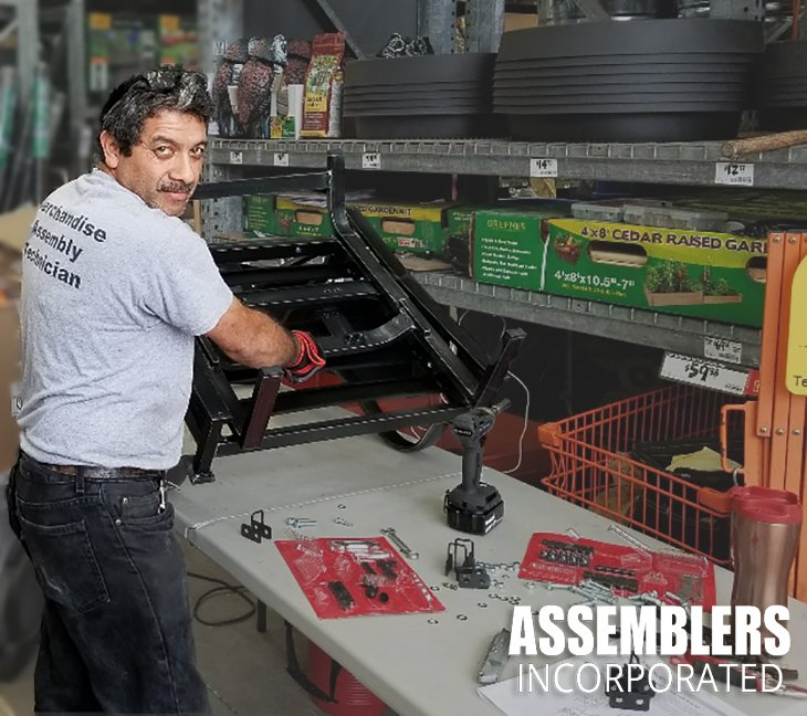 Assembly Technician Carlos Taque does a great job keeping our partners at The Home Depot stocked with assembled products! Thanks, Carlos! Keep up the good work. #WePutItAllTogether http://assemblersinc.net