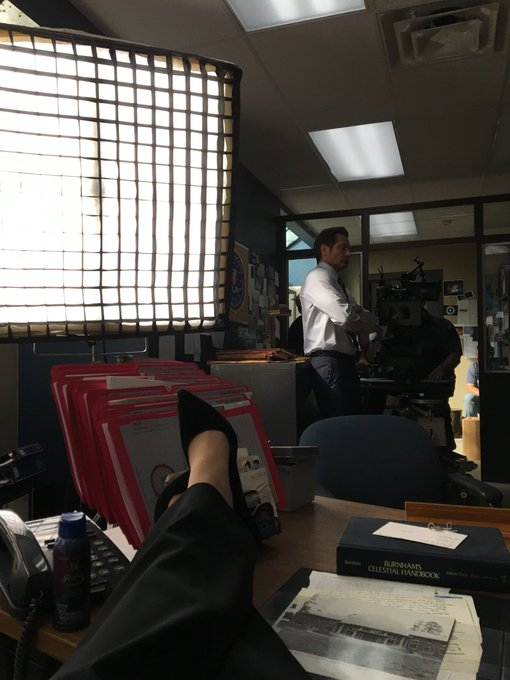 Scully at the helm. #bts #TheXFiles https://t.co/tJbWAGpJjv