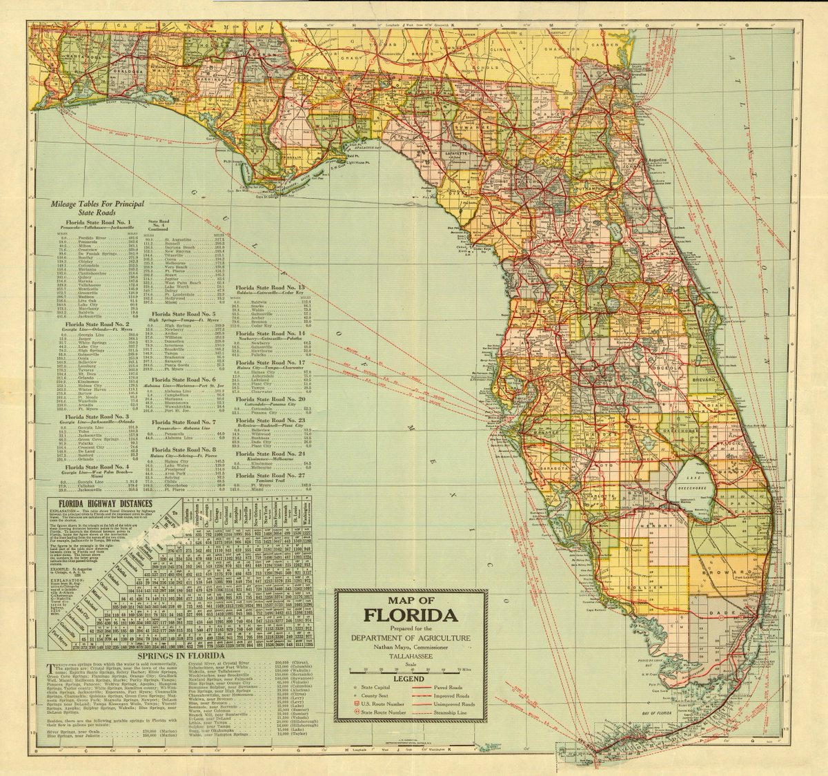Florida Map With Highways.Florida Memory On Twitter A Map Of The Sunshine State Prepared For