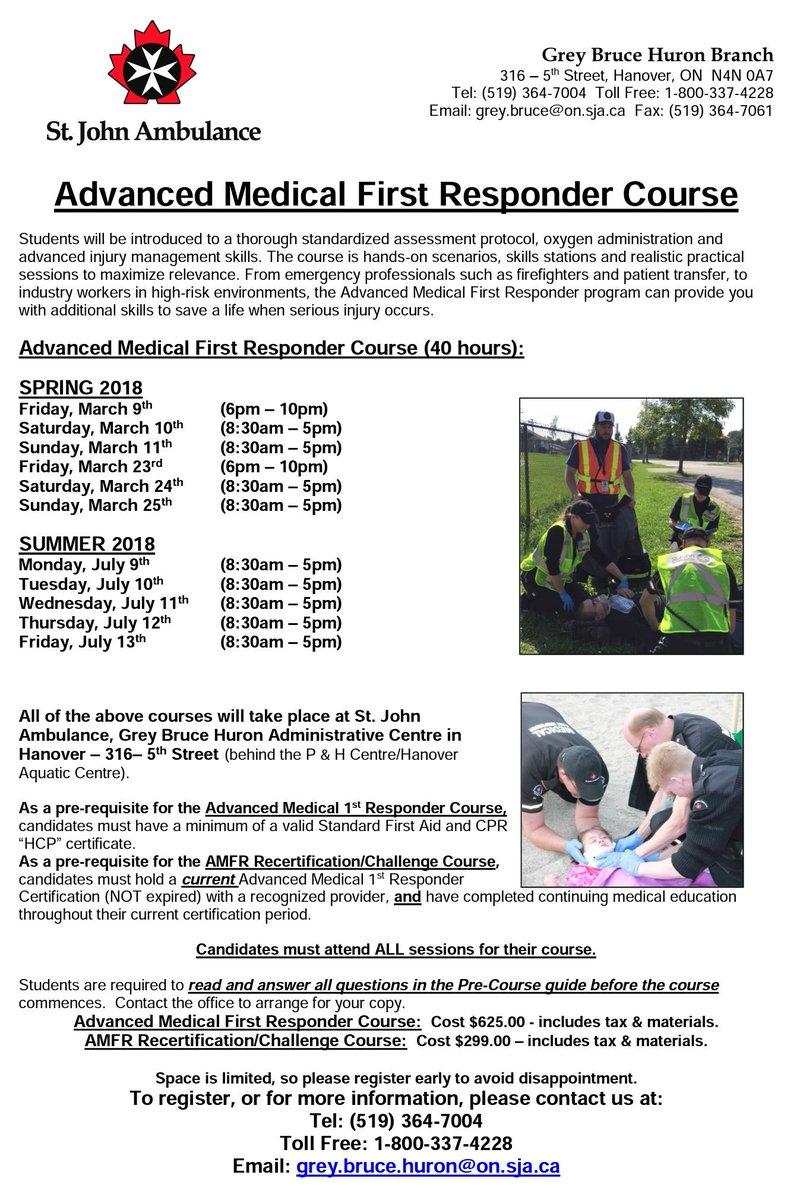 Sja Grey Bruce Huron On Twitter Looking To Expand Your First Aid