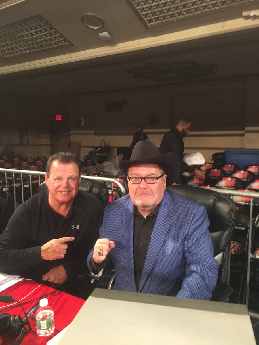 .@JerryLawler & Ol JR are ready for #RAW25 from #ManhattanCenter in NYC. 8/7 CT tonight! @USANetwork28  @WWE
