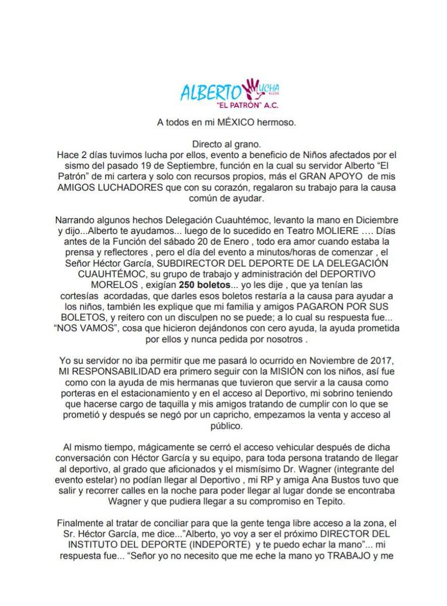 """A pesar de los intentos de boicot, Alberto el Patrón llevó a cabo """"Lucha por ellos"""". 4"""