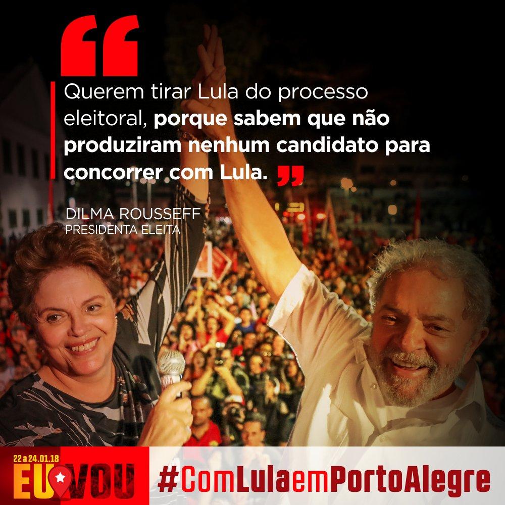 Presidenta eleita @dilmabr  traçou um raio-x do golpe, dividindo-o em três atos, sendo o último a tentativa de afastar artificialmente o ex-presidente Lula da disputa eleitoral de outubro deste ano 👉👉 https://t.co/6Kp84TPPp5