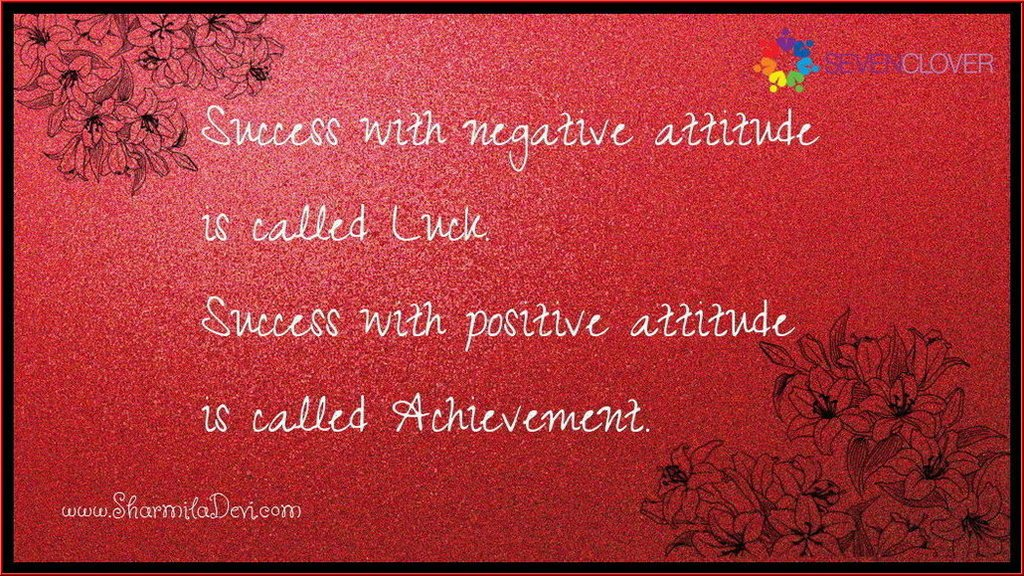 Sevenclover Coaching On Twitter Success With Negative Attitude Is