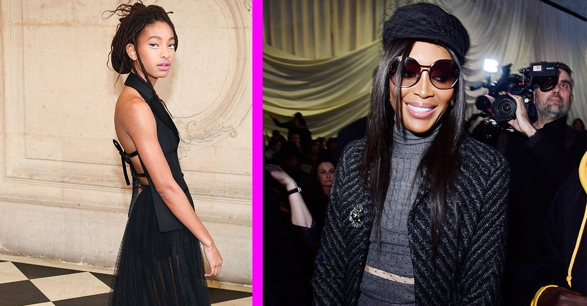 Did you catch @OfficialWillow, @niaomicampbell, @winnieharlow and @bellahadid lookin FIERCE at Paris @FashionWeek?! https://t.co/DnhMAqC1Km