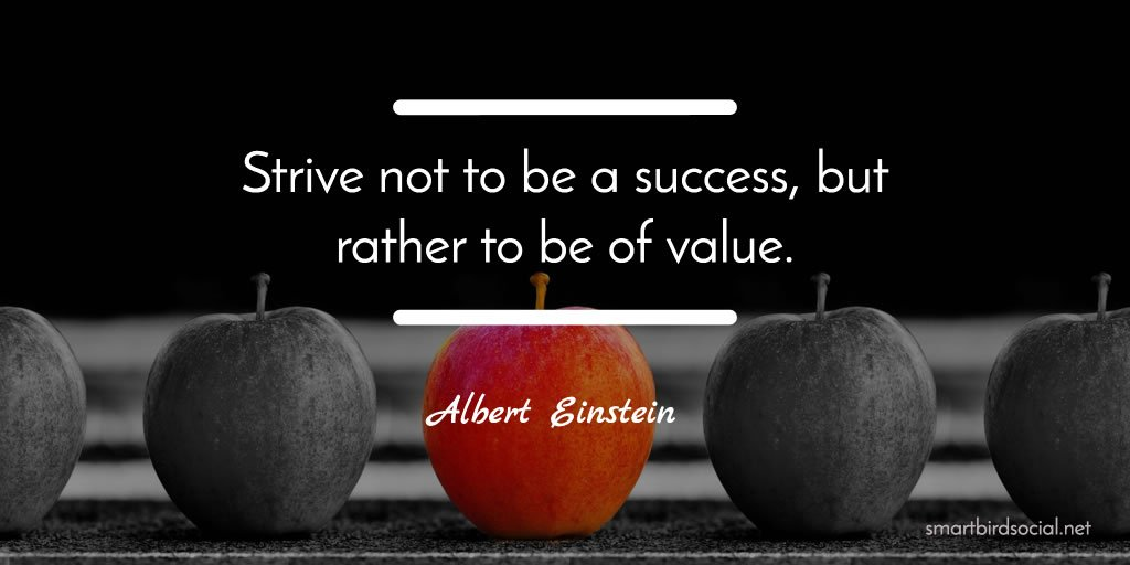 """Albert Einstein Quotes Strive Not Success: Meghan Monaghan 🌸 On Twitter: """"Strive Not To Be A Success"""