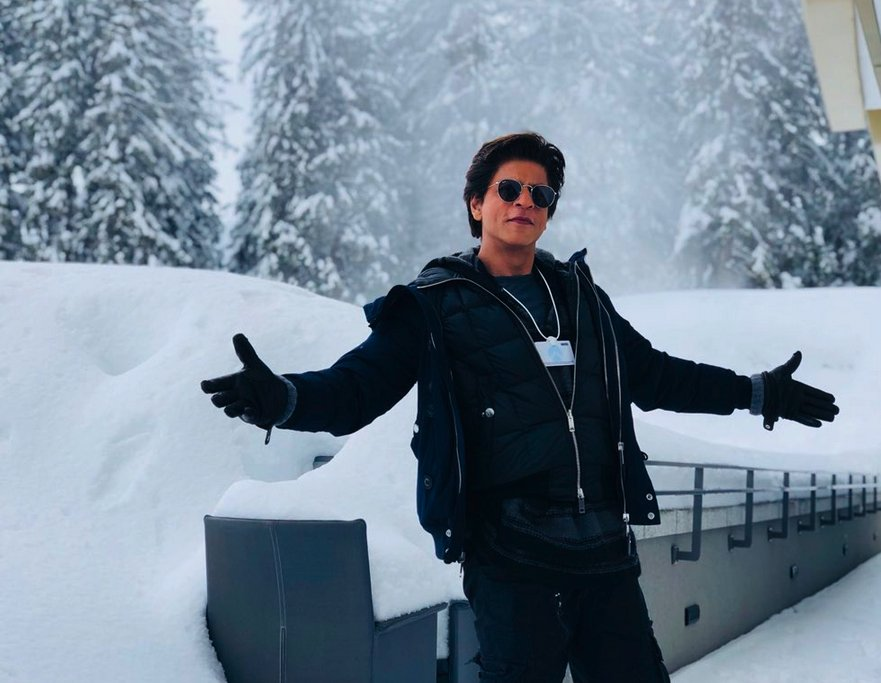 Greetings from #Davos @iamsrk