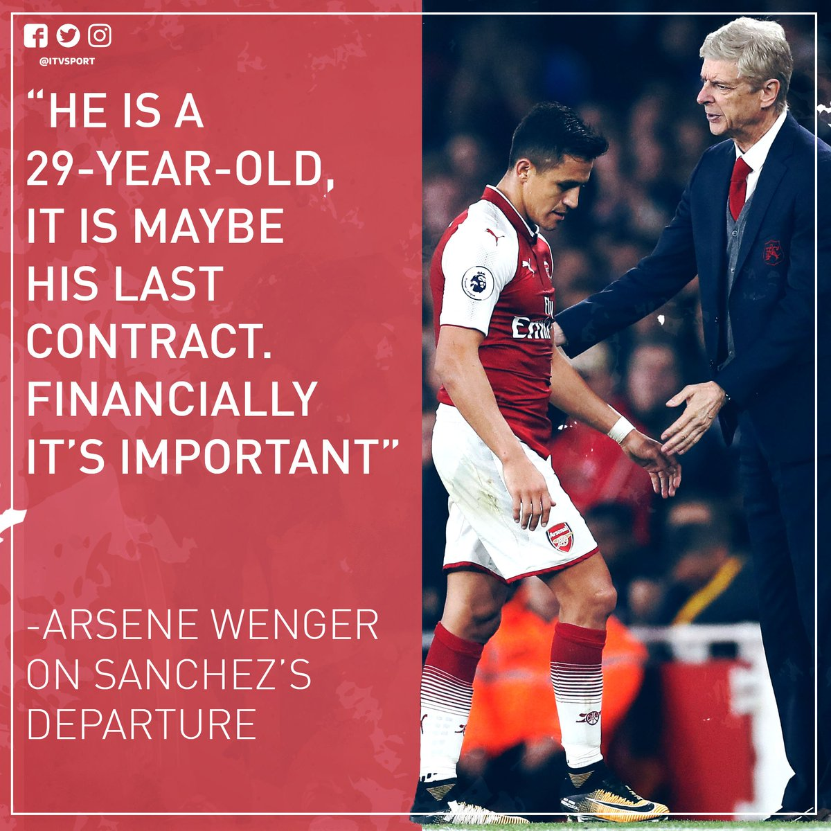 Arsene Wenger has been speaking about @Alexis_Sanchez's departure ahead of @Arsenal's game against @ChelseaFC |