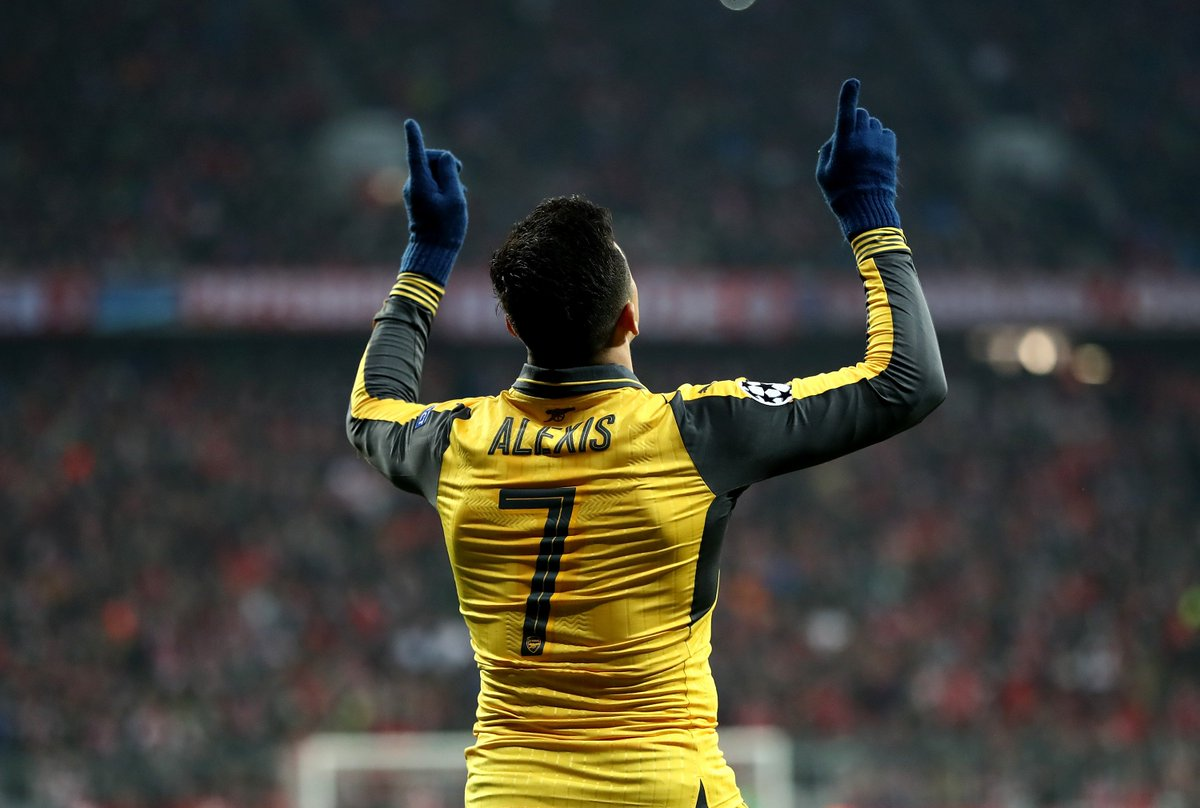 Alexis at Arsenal 🙌  Games: 166 Goals: 80 Assists: 46  How far will he go with @ManUtd in the #UCL?