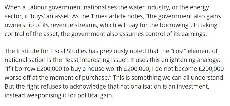 Love this 'rebuttal' from @liamyoung to our cost of nationalisation paper, which he doesn't appear to have actually read. One of our main points is that even if this is true, it still helps to know what the house is worth... https://t.co/qTL3KW5kAf