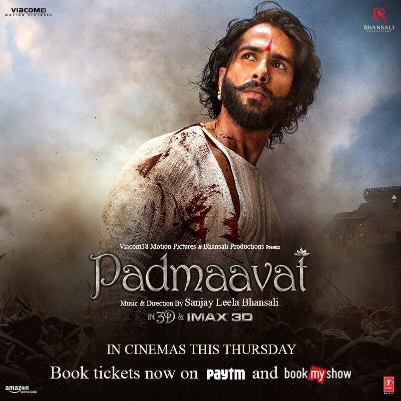 Our humble tribute to the valor, legacy & courage of the Rajputs  rel#Padmaavateases in 2 days. Book NOW! .   #2DaysToPadmaavat   @RealPadmavati @RanveerOfficial @deepikapadukone@aditiraohydari@Viacom18Movies@Bhansali_Prod@TSeries