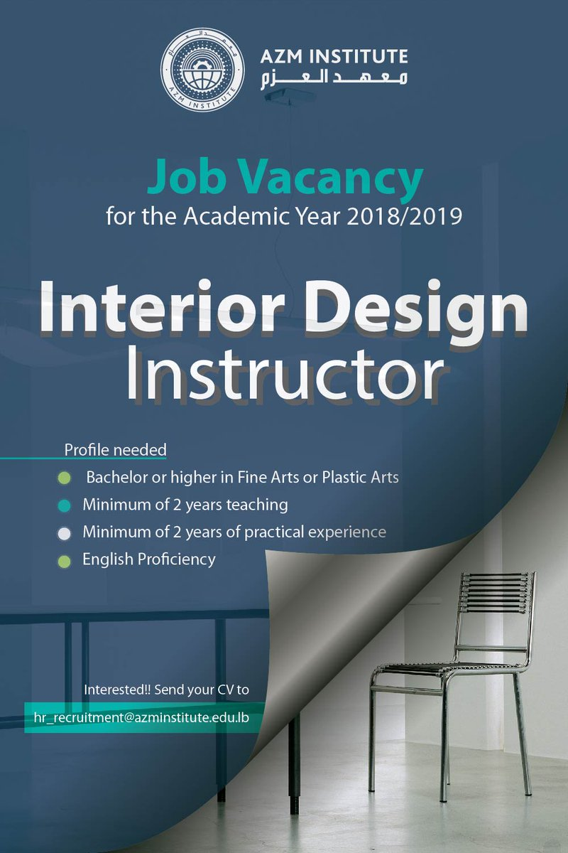 Interior Design Job Vacancy