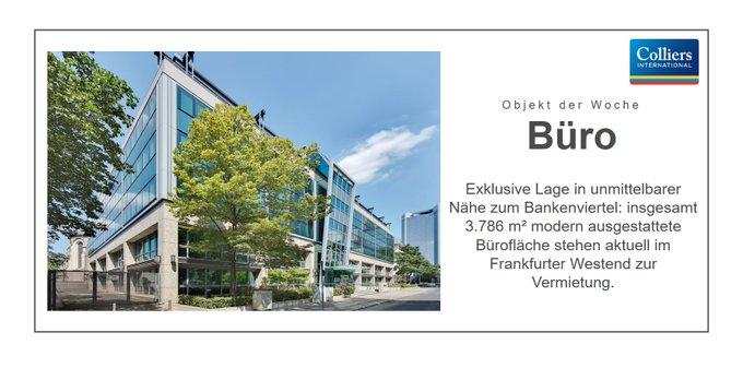 Objekt der Woche: #Frankfurt am Main<br>Repräsentativer Eingangsbereich, moderne technische Ausstattung und exklusive Lage in Nachbarschaft zum Bankenviertel. Die #Büro-flächen dieser Liegenschaft umfassen insgesamt 3.786 m². Alle Informationen:  t.co/3wvc8nKOZR
