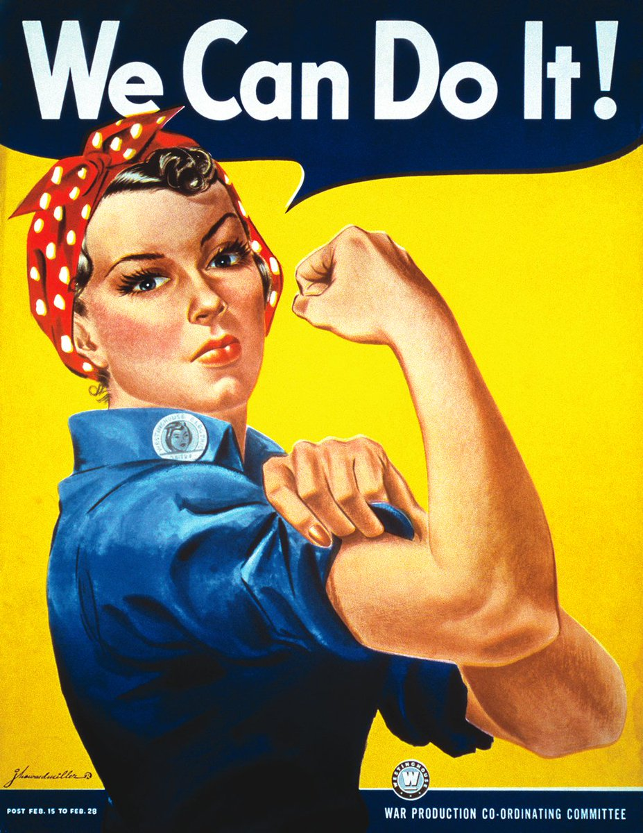 Naomi Parker Fraley, the woman who inspired the original Rosie the Riveter, has passed away at the age of 96. RIP 💪💪💪