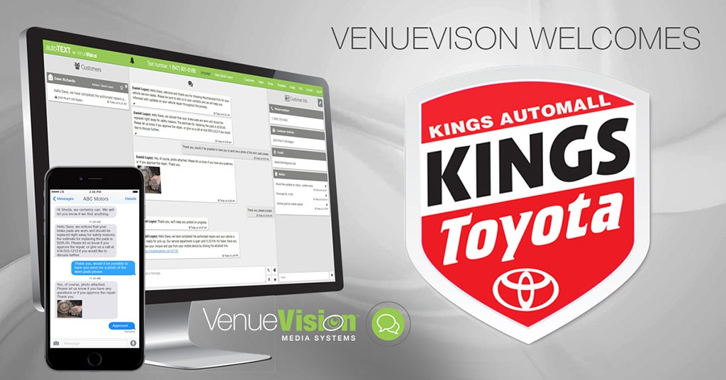 Kings Toyota The 1 Customer Service S Dealer In Ohio Selects Autotext By Venuevision For Communications Thank You Kingstoyota