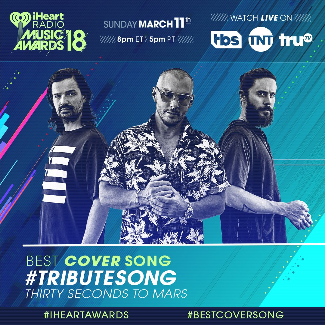 Show some love and RT to vote for #TributeSong to win #BestCoverSong at the #iHeartAwards