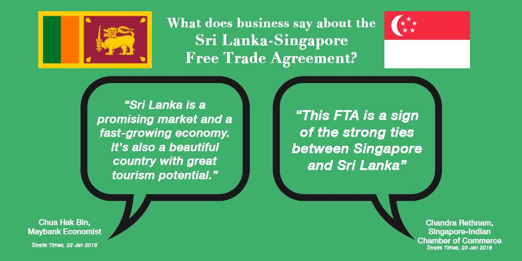 Unp On Twitter Sri Lanka Has Our First Free Trade Agreement In 10