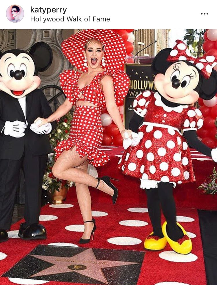 Minnie Mouse gets her star on the Hollywood Walk of Fame presented by @katyperry ✨💃🏻