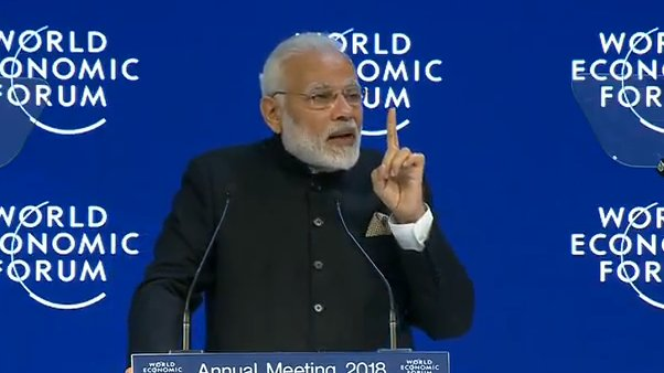 Terrorism is dangerous. Worse is when people say there is a difference between 'good' and 'bad' terror. It is painful to see some youngsters getting radicalised: PM @narendramodi at @wef https://t.co/zEJ3QZzG8l #IndiaMeansBusiness
