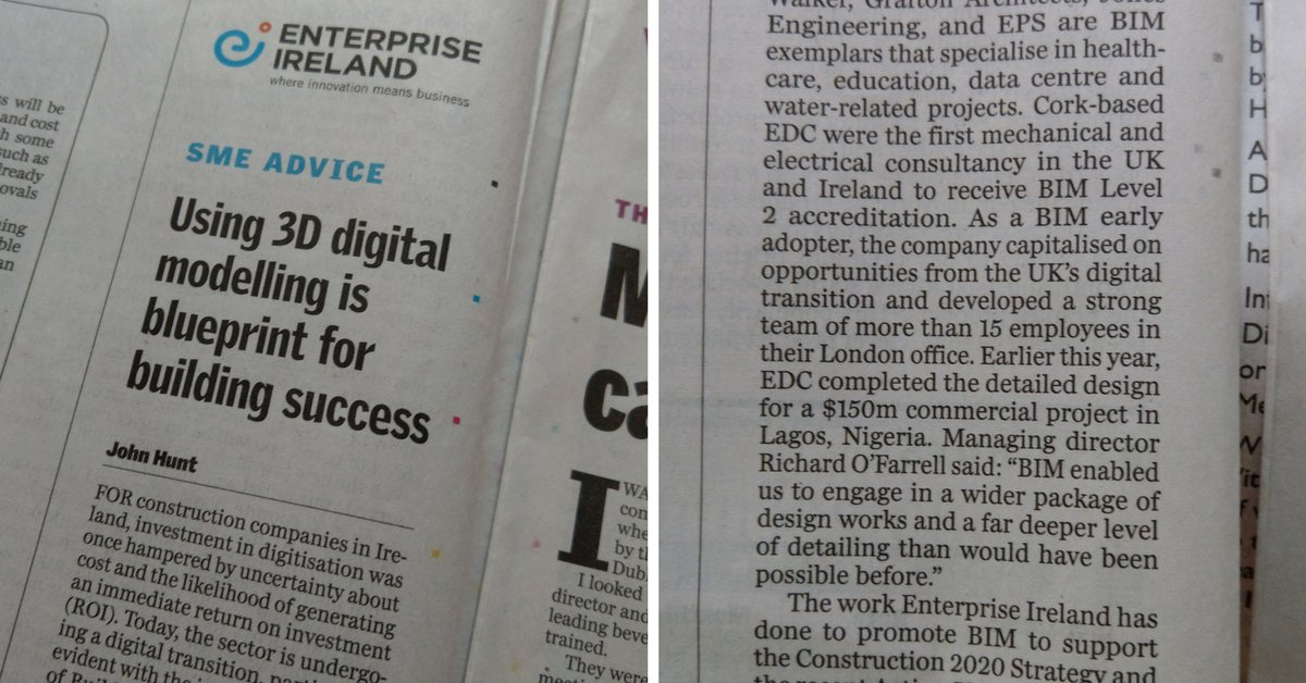 Edc engineers on twitter great to see edc in the sunday blueprint for building success the full article can be read here malvernweather Images