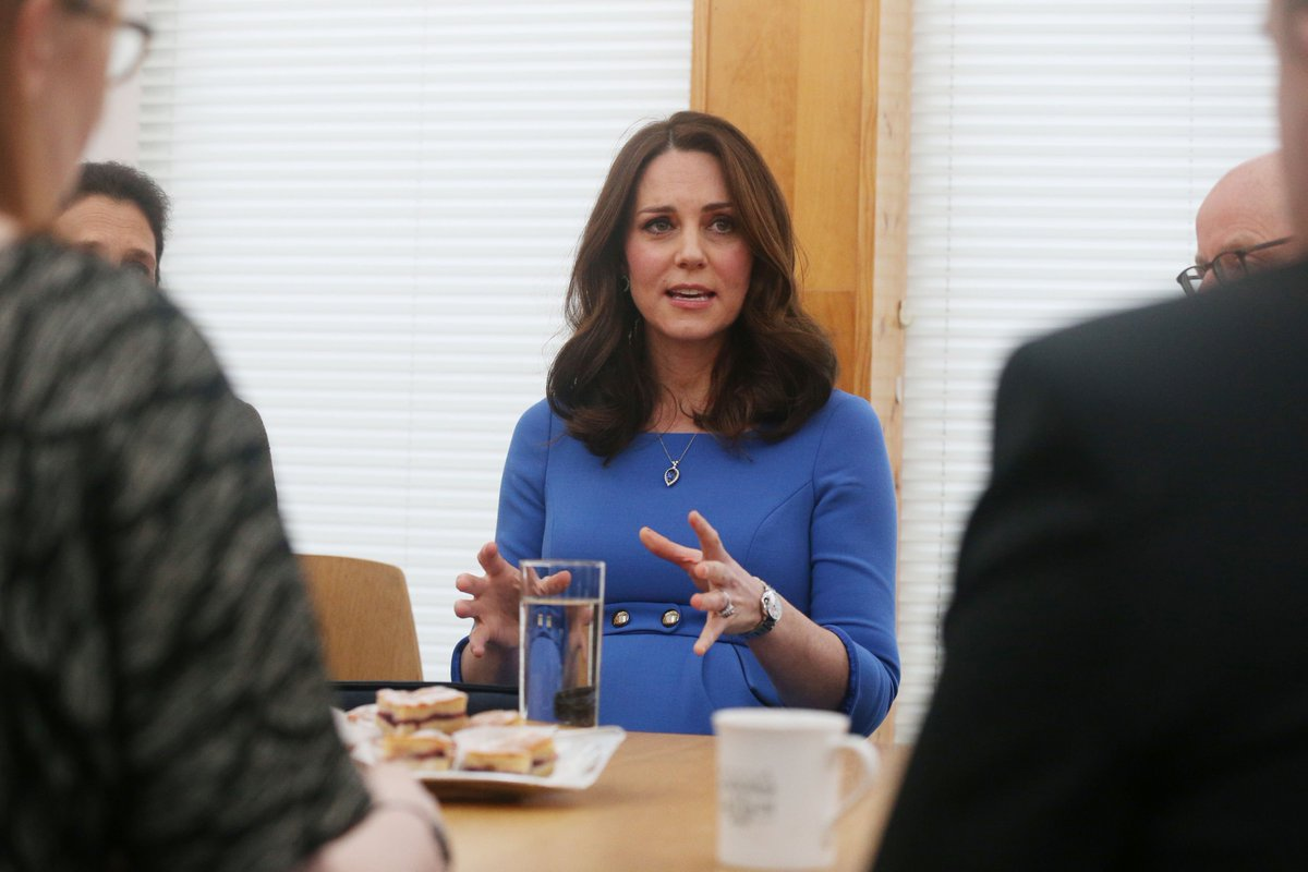 The Duchess of Cambridge attends a meeting with teachers and other stakeholders at Roe Junior School