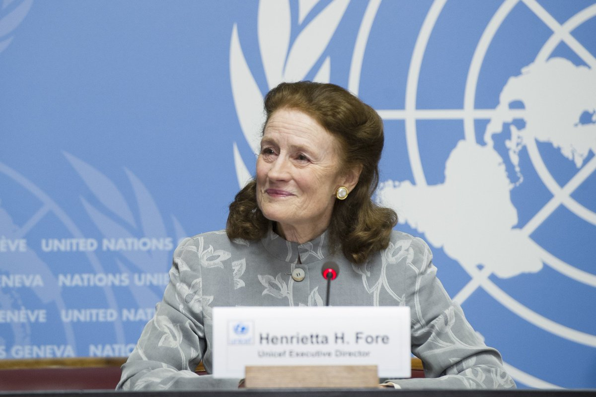 'South Sudan is @UNICEF's 4th-largest emergency situation in the world.  And I wish that I could tell you that the situation in #SouthSudan was getting better, but I cannot.  It is getting worse.'  -- @unicefchief Henrietta Fore speaking to the press @UNGeneva today.