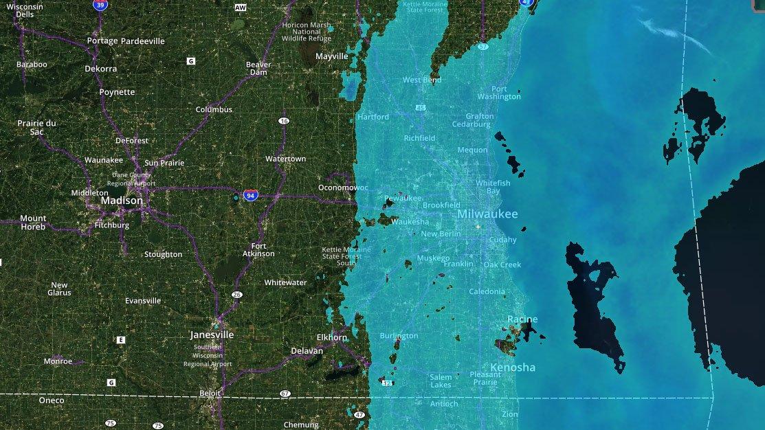Winter Weather Advisory until 10am for Milwaukee, Waukesha, Walworth, Racine and Kenosha counties. https://t.co/OyquGLgrzW
